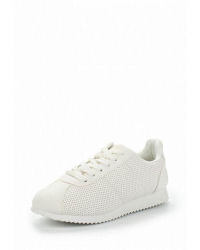 Белые кроссовки из искусственной кожи Chicmuse