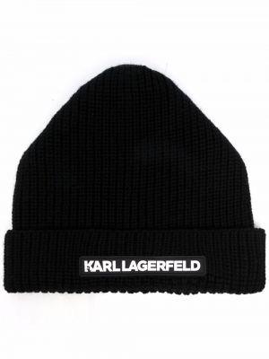 Czapka beanie - biała Karl Lagerfeld