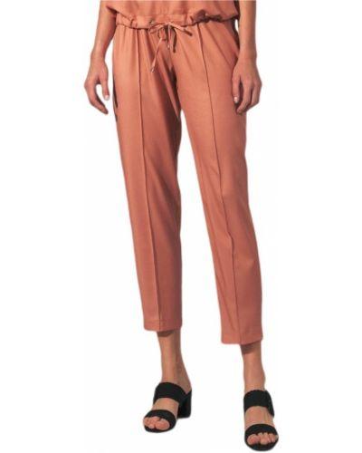 Pomarańczowe klasyczne spodnie Figl