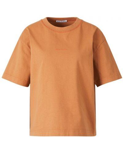 T-shirt bawełniana - pomarańczowa Acne Studios