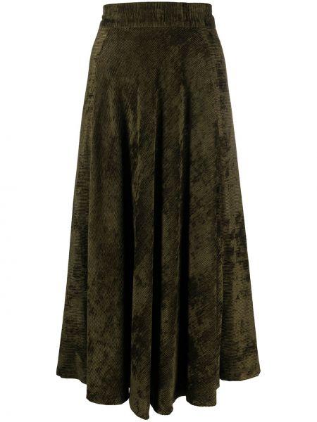 Nylon zielony spódnica midi wysoki wzrost Roberto Collina