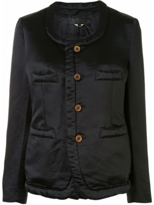 Черная куртка с карманами круглая Comme Des Garçons Comme Des Garçons