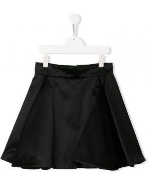 Spódnica mini z wysokim stanem krótki Balmain Kids