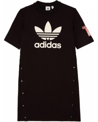 Платье мини футболка с вырезом Adidas