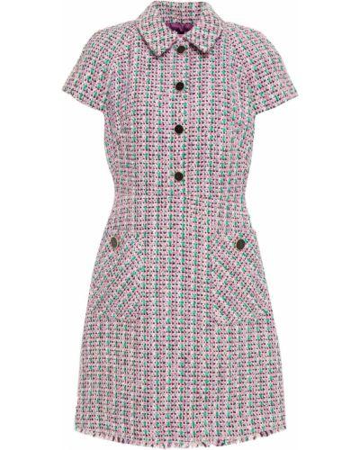 Платье мини твидовое с накладными карманами Kate Spade New York