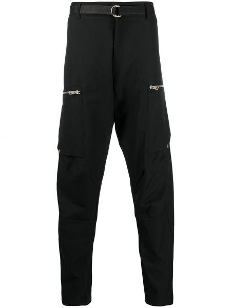 Хлопковые зауженные черные брюки карго Andrea Ya'aqov