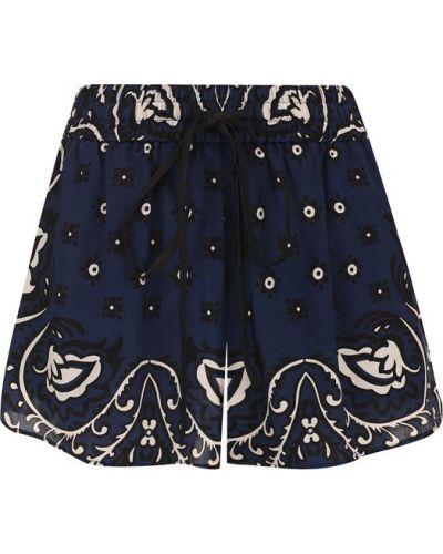 Короткие шорты шелковые с поясом Redvalentino
