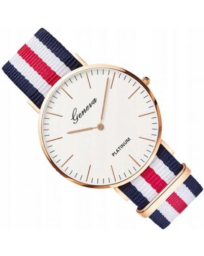 Biały klasyczny zegarek z nylonu Geneva