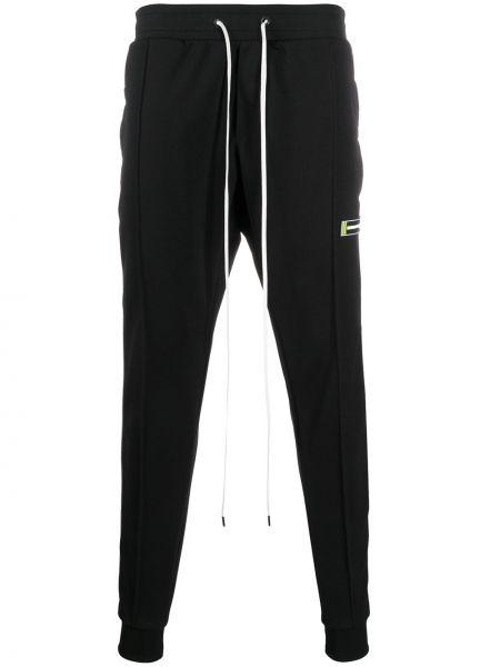 Черные спортивные брюки с карманами с манжетами с нашивками Daniel Patrick