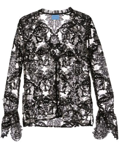 Блузка с длинным рукавом с пайетками прямая Macgraw