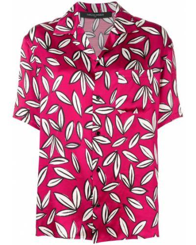 Свободная розовая классическая рубашка с лебяжьим пухом с карманами Garcons Infideles
