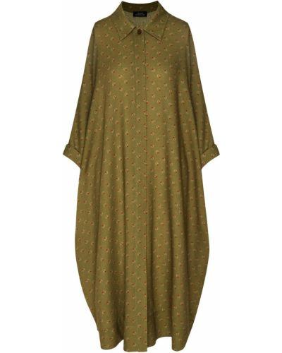 Платье рубашка - зеленое Alena Akhmadullina
