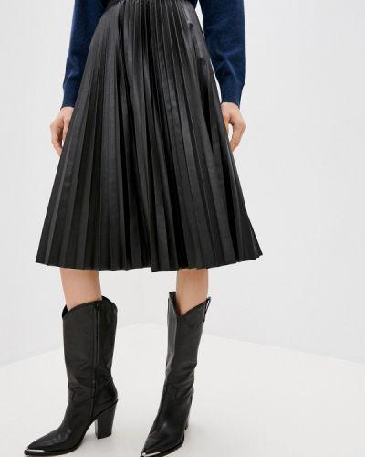 Кожаная черная юбка Max&co
