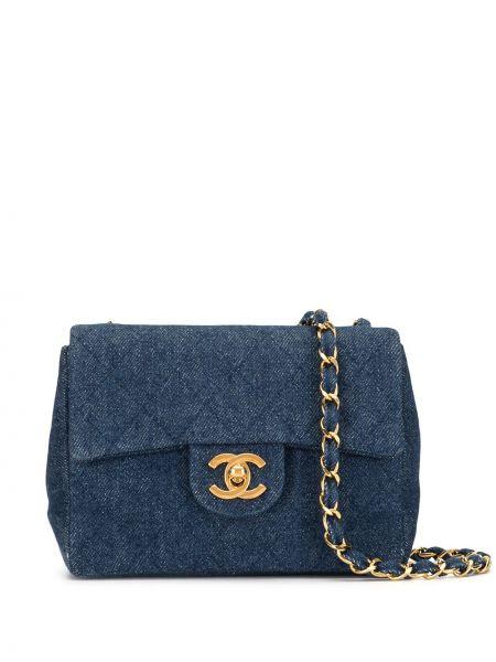 Сумка на плечо стеганая джинсовая Chanel Pre-owned