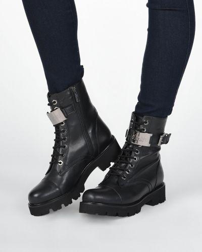 Кожаные ботинки - черные Baldinini