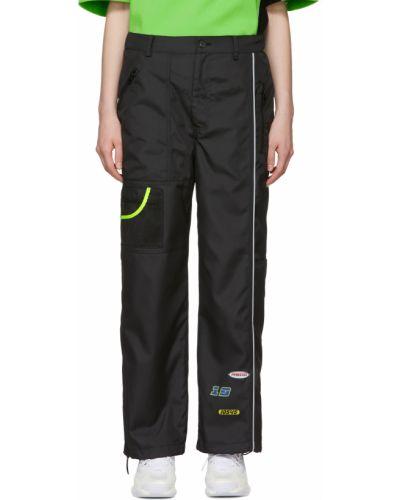 Czarne spodnie z nylonu Ader Error