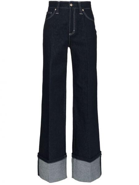 Хлопковые синие джинсы с воротником свободного кроя Chloé