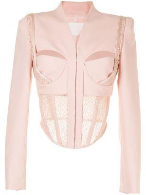 Розовая шерстяная куртка Dion Lee