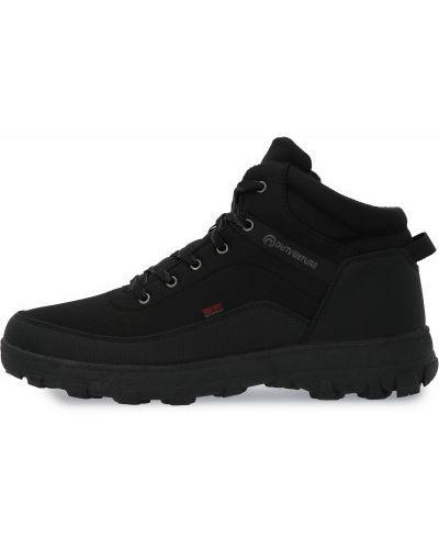 Теплые кожаные черные кожаные ботинки на шнуровке Outventure