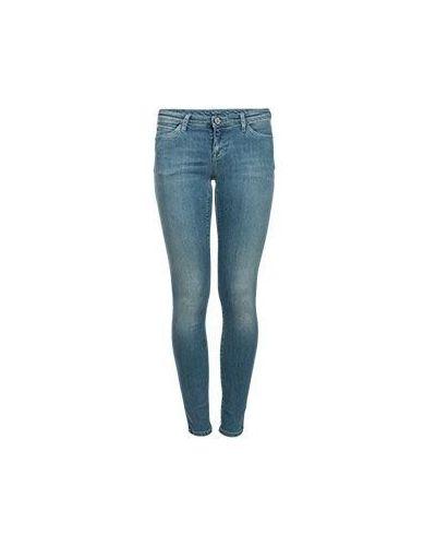 Голубые джинсы-скинни Armani Jeans