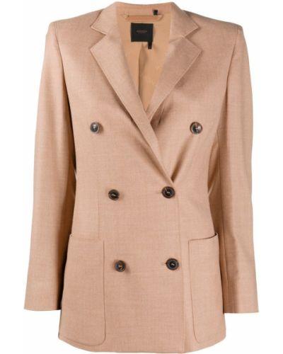 С рукавами шерстяной пиджак на пуговицах с лацканами Agnona
