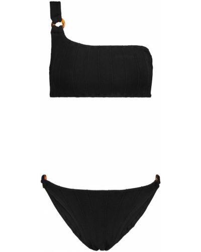 Czarny bikini z nylonu Hunza G