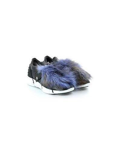 Повседневные кожаные черные кроссовки Elena Iachi