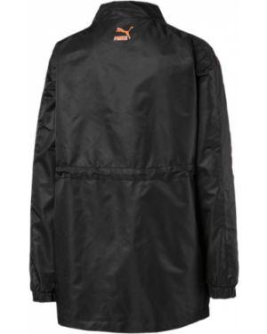 Черная нейлоновая длинная куртка с манжетами на молнии Puma
