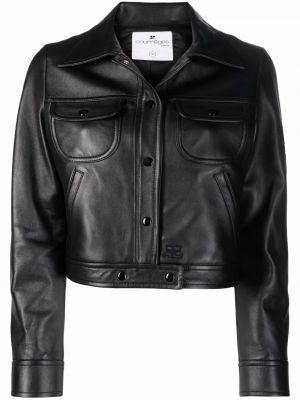 Czarna klasyczna kurtka Courreges