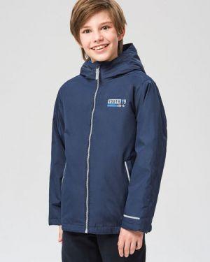 Синяя теплая куртка на молнии с воротником-стойка Ostin