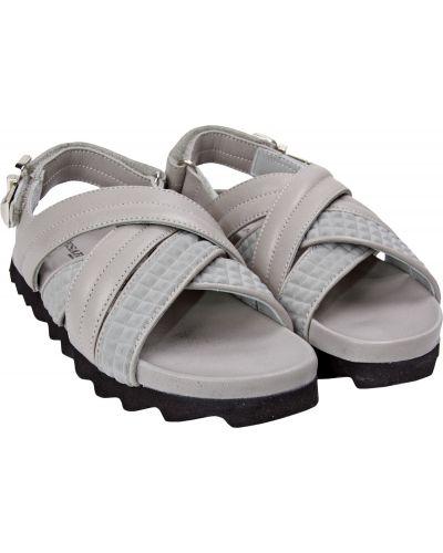 Серые пляжные кожаные сандалии Cesare Paciotti