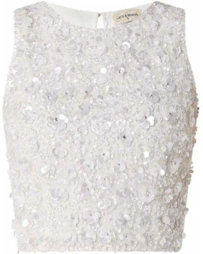 Top koronkowy z cekinami sznurowany Lace & Beads