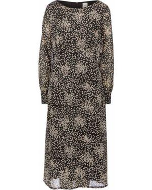 Платье миди с цветочным принтом с принтом Ichi
