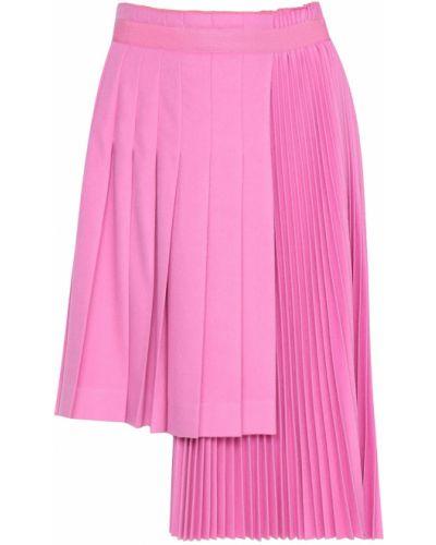 Плиссированная юбка с завышенной талией розовая Ermanno Scervino