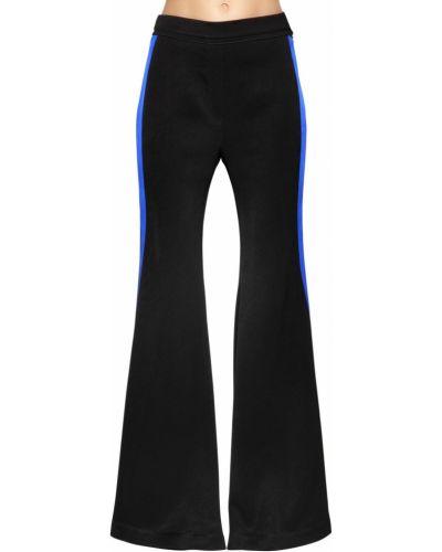 Czarne spodnie z wysokim stanem rozkloszowane Ellery
