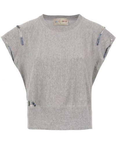 Блузка с коротким рукавом батник с вышивкой Andrea Bogosian