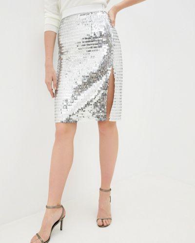 Серебряная прямая юбка карандаш Anastasya Barsukova