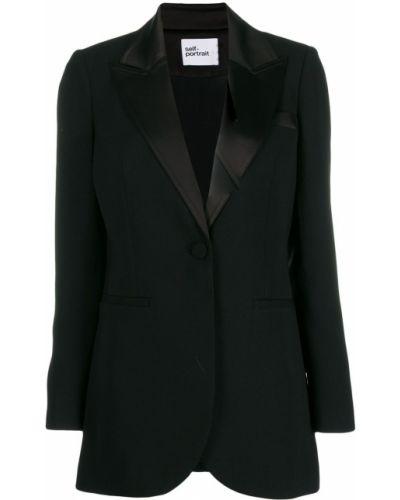 Черный классический пиджак с карманами Self-portrait