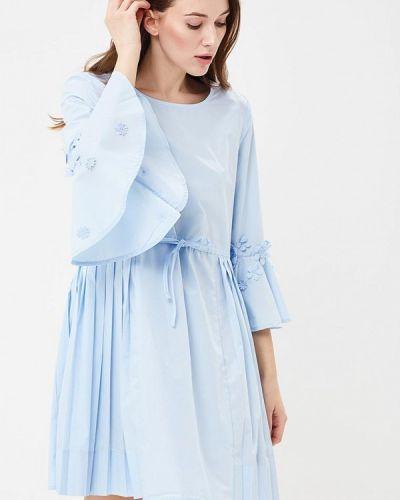 Голубое платье с длинными рукавами Incity