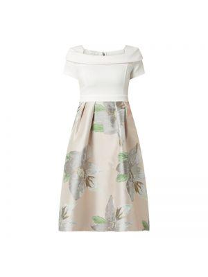Różowa sukienka koktajlowa rozkloszowana krótki rękaw Apart Glamour