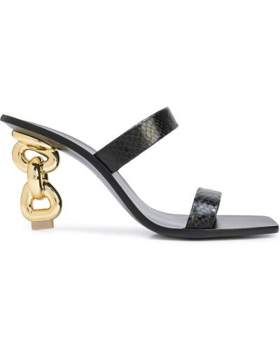 Czarne sandały na obcasie Cult Gaia