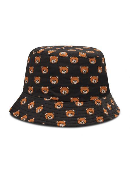 Czarny kapelusz Moschino