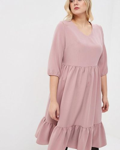 Повседневное платье розовое осеннее Tutto Bene Plus
