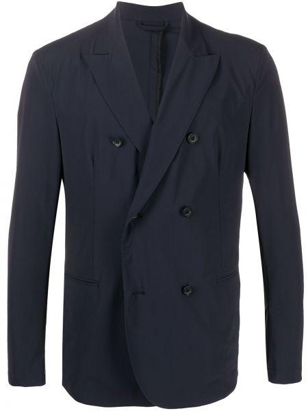 Niebieska długa kurtka z długimi rękawami Hydrogen