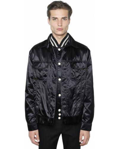 Satynowa czarna koszula Calvin Klein Collection