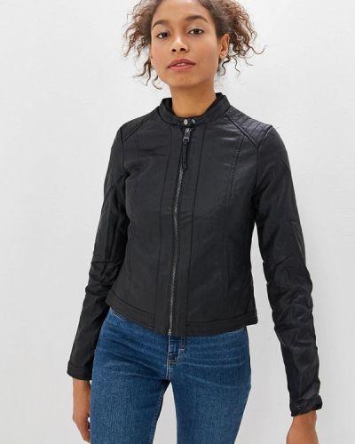 Кожаная куртка - черная Alcott