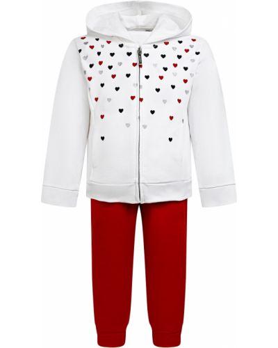 Костюмный хлопковый красный спортивный костюм Mayoral