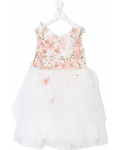 Платье с рукавами из фатина без рукавов Le Mu