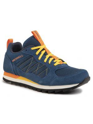 Niebieskie sneakersy skorzane miejskie Merrell