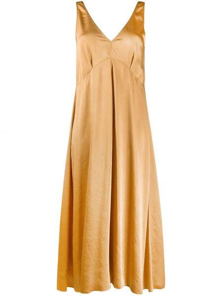 Платье миди с V-образным вырезом расклешенное Forte Forte